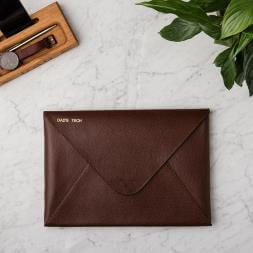 Personalised Men's Leather Laptop Case