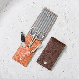 Personalised Leather Manicure Set