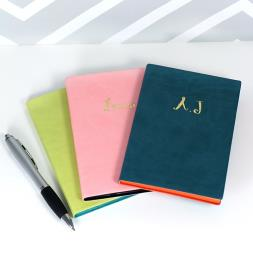 Personalised Pu Leather A6 Notebook