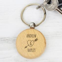 Personalised Two Names Keyring