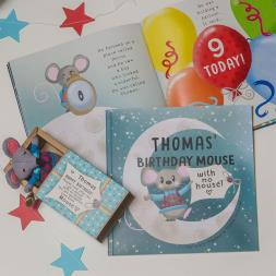 Personalised 'Mouse With No House' Birthday Book