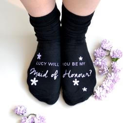 Personalised Be My Bridesmaid? Socks