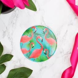 Flamingo Pocket Mirror