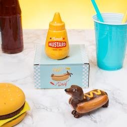 Hot Dog And Mustard Salt And Pepper Set