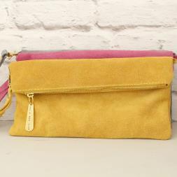 Personalised Suede Clutch Bag