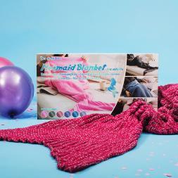 Mermaid Comfort Blanket - Pink