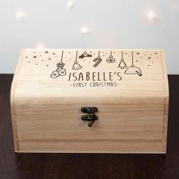 Personalised Baby's First Christmas Eve Chest