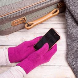 Smartphone Gloves - Medium Pink