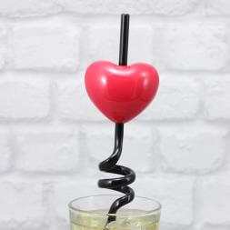Heart Message Straw