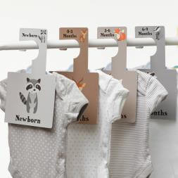 Baby Wardrobe Dividers - Woodland Animals