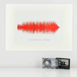 Personalised Song Sound Wave Print