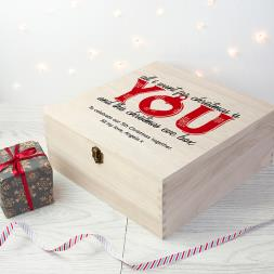 Personalised Couples Christmas Eve Box