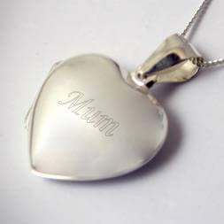 Personalised Sterling Silver Heart Shaped Locket
