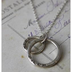 Bespoke Personalised Large and Small Ring Necklace