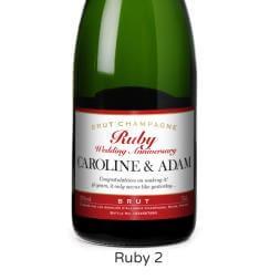 Personalised Champagne - Milestone Wedding Anniversary