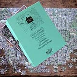 Personalised Postcode Jigsaw - 255 Pieces - Aerial