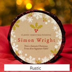 Personalised Christmas Pudding - Small