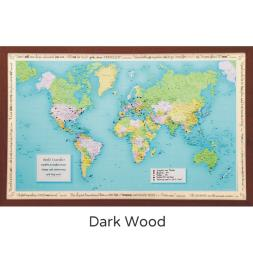 Personalised World Traveller Map - Framed