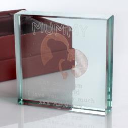 Personalised Square Glass Keepsake - Mummy