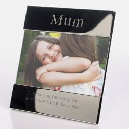 Personalised Silver Photo Frame - For Mum